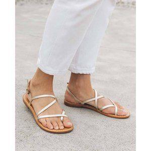 Soludos Zoe Strappy Sandal Metallic Platinum 8.5